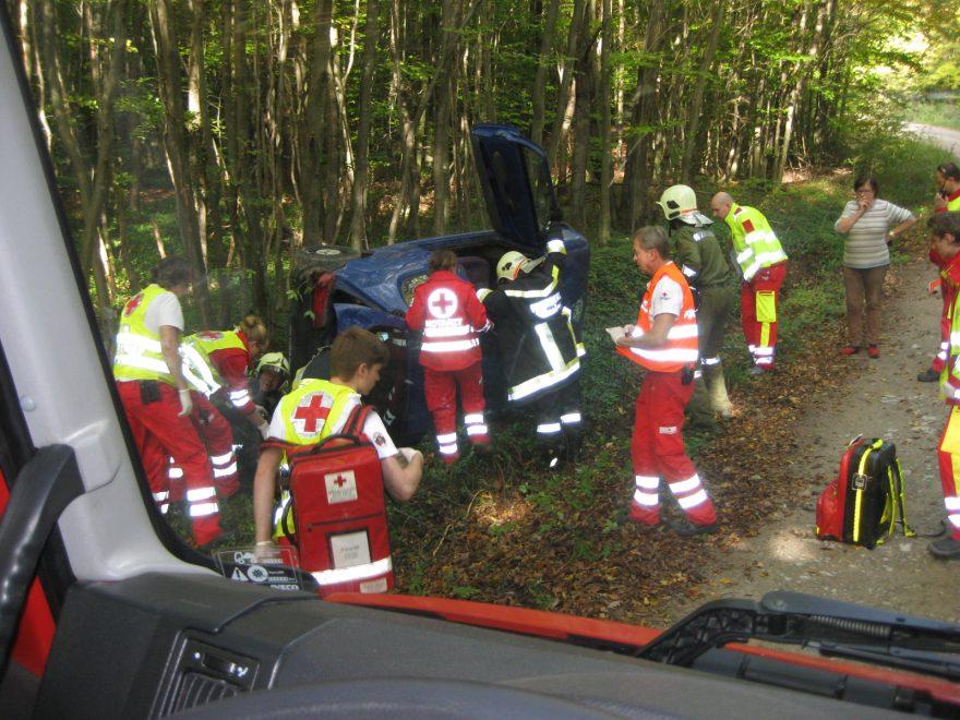 Verkehrsunfall mit Menschenrettung am 11.10.